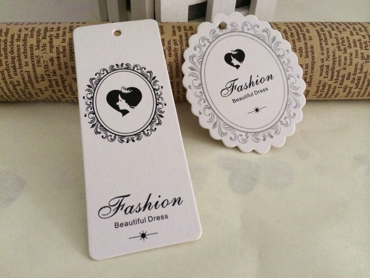 Customized Brand Name Women Hair Extention Paper Price Hang Tags