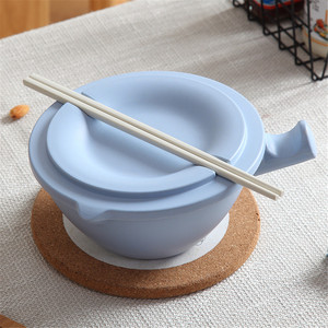Large Bamboo Fiber Noodle Bowl with Handle Food Container Rice Bowl Soup Bowls Instant Noodle Bowl with  G603
