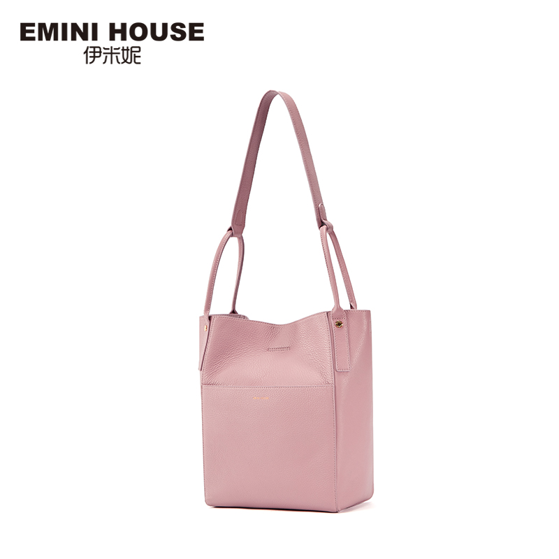 EMINI HOUSE Genuine Leather Bag Women Shoulder Bucket Bag Messenger Bags handbags women famous brands Roomy ladies Handbags Bags chispaulo women genuine leather handbags cowhide patent famous brands designer handbags high quality tote bag bolsa tassel c165