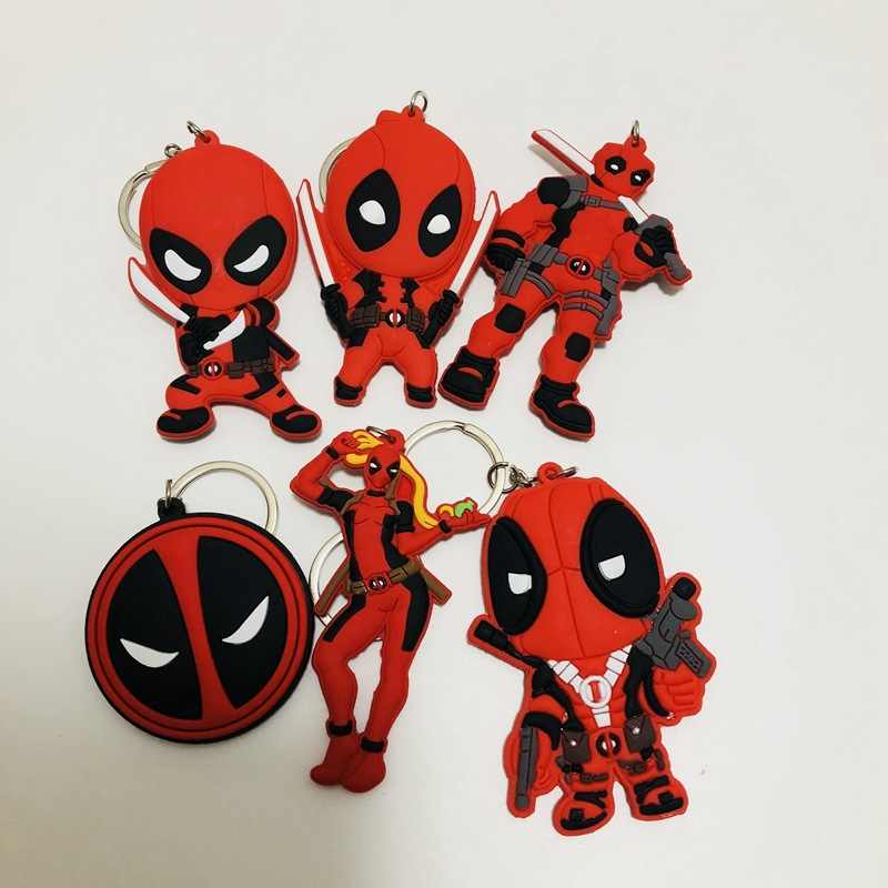 Marvel Deadpool cos PVC keychain fashion classic novelty pendant key chain Jewelry Accessory Chaveiros Llaveros souvenirs gifts