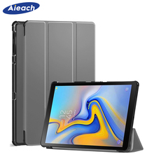 AIEACH Smart Flip Case For Samsung Galaxy Tab A 10.5 2018 SM-T590 T595 T597 PU Leather Hard Cover For Samsung Tab A 10.5 Case