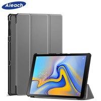 AIEACH Smart Flip Case Voor Samsung Galaxy Tab EEN 10.5 2018 SM-T590 T595 T597 PU Leather Hard Cover Voor Samsung tab EEN 10.5 Case