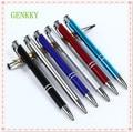 Шт. 1 шт. 7 цветов на выбор из металлической шариковой ручки, пишущая смазка, нажмите стиль, это школьные товары для бизнеса - фото