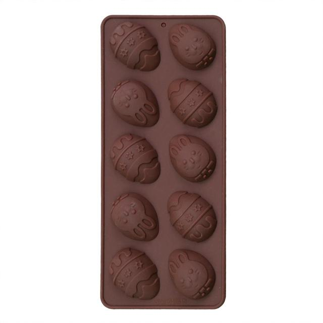 10-Cavity Easter Egg Silicone Chocolate Mold