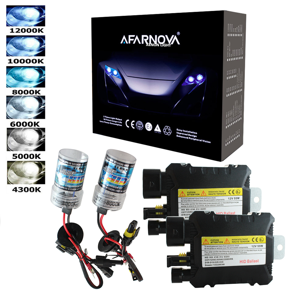 35W 55W Xenon H7 Light Bulb Car Headlight H1 H3 H7 H11 9005 9006 4300k 5000k 6000k 8000k HID Slim Ballast Xenon Headlamp 12V Kit