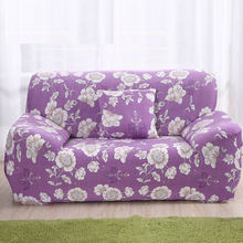 Purple Sofa Cover Elastic Slipcover Wrap Flower Couch Universal Covers For Living