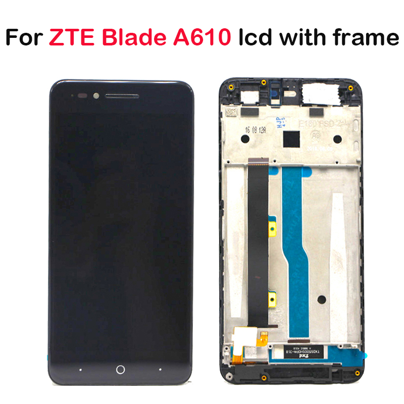With frame For ZTE Blade A610 LCD Display Touch Screen HD Digitizer Assembly For ZTE Blade A610/A241 Version 318 Version Lcd-in Mobile Phone LCD Screens from Cellphones & Telecommunications