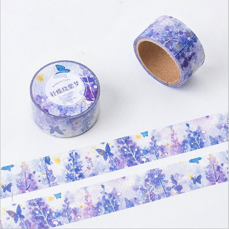 2cm*5m beautiful Butterfly dream washi tape DIY decoration tape planner masking tape office adhesive tape label sticker kawaii