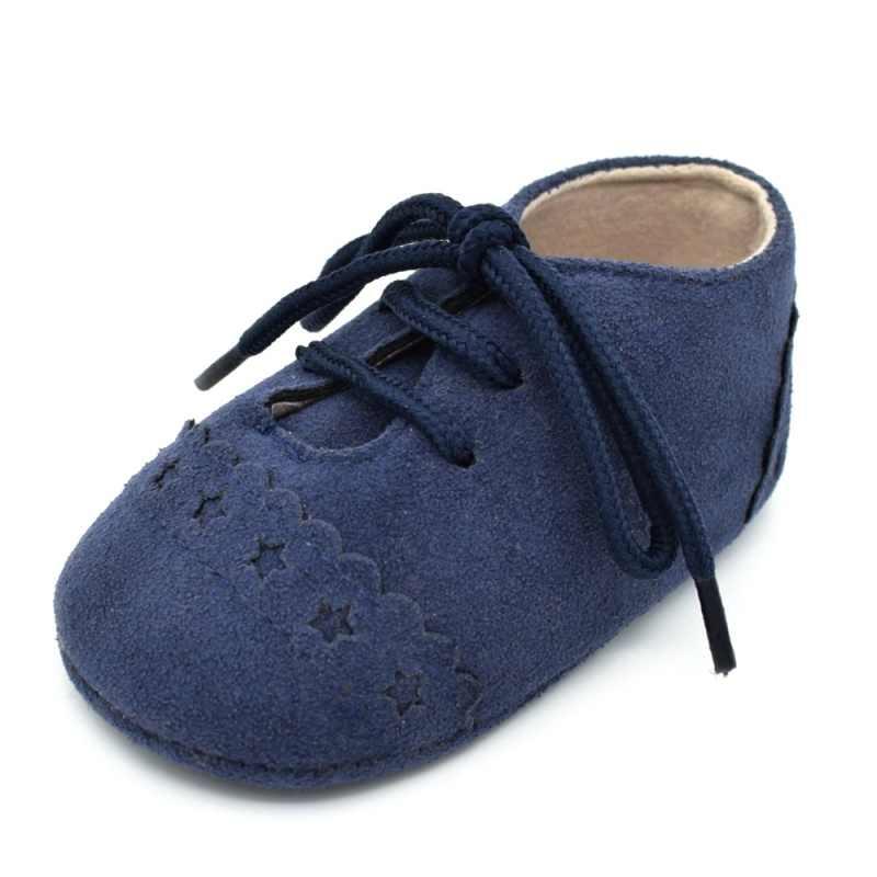 แฟชั่นเด็กชายหญิงรองเท้าหนังนิ่มหนังนุ่มNo-Slip First Walkers Antislip Prewalkersทารกเด็กวัยหัดเดินรองเท้า