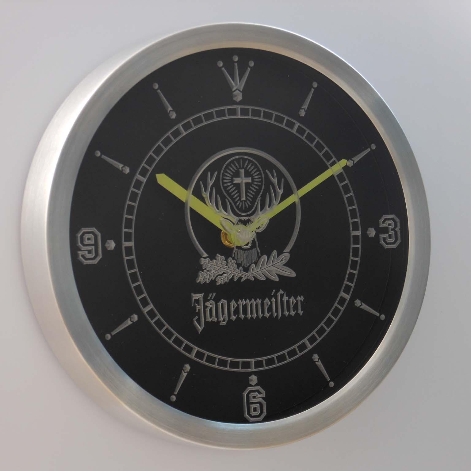 Jägermeister Neon verlichting LED Wandklok 1