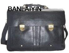 Fashion Men Leather Briefcase Portfolio Men Briefcase Large Business Bag 15″laptop Bag Male Office Bag Tote Attache Case Black