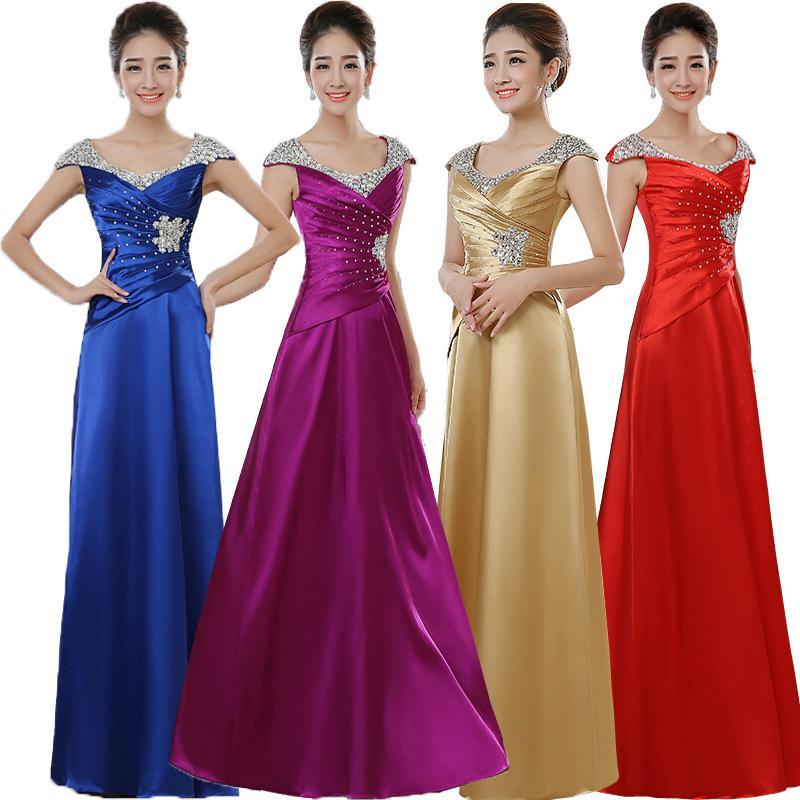 Excelente Vestidos De Dama De Oro De Largo Composición - Vestido de ...