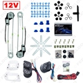 Universal Car 2-Doors Electric Power Window Kits with 3pcs Switches & Wire Harness DC12V #3781