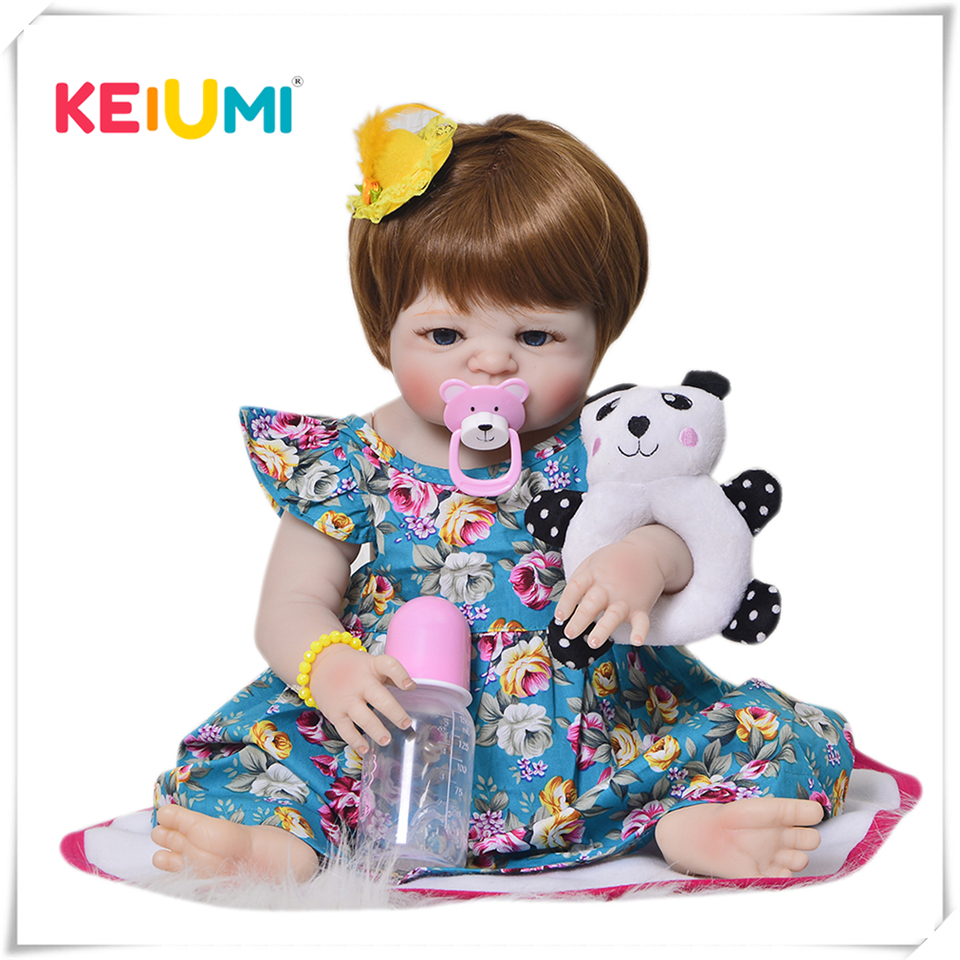 Novo design 23 lifelifelifelike bebê reborn boneca menina 57 cm silicone cheio vinil realista brinquedos do bebê com peruca de cabelo para crianças presente natal