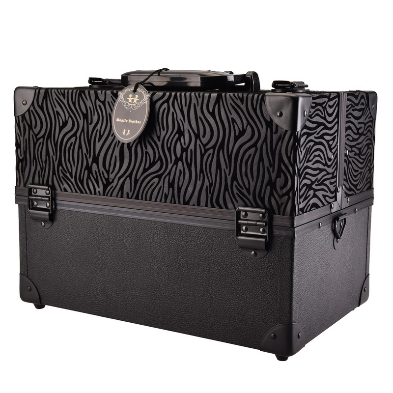 new arrival big quality Leopard ABS&PU Make up Box Makeup Case Beauty Case Cosmetic Bag Multi Tiers Lockable Jewelry Box leopard leatherette jewelry box cosmetic case travel makeup container