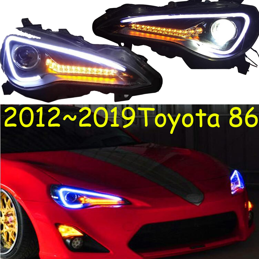 Video Display Car Styling Head Lamp For Toyota FT GT 86 FT86 GT86 Headlight 2012~2019 DRL Bi-Xenon Lens Hi LO Beam 86 Taillight