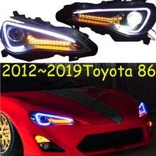 Faro trasero con pantalla de vídeo para coche Toyota FT GT 86 FT86 GT86, luces delanteras de bi xenón DRL 2012 ~ 2019, luz trasera de haz alto LO 86