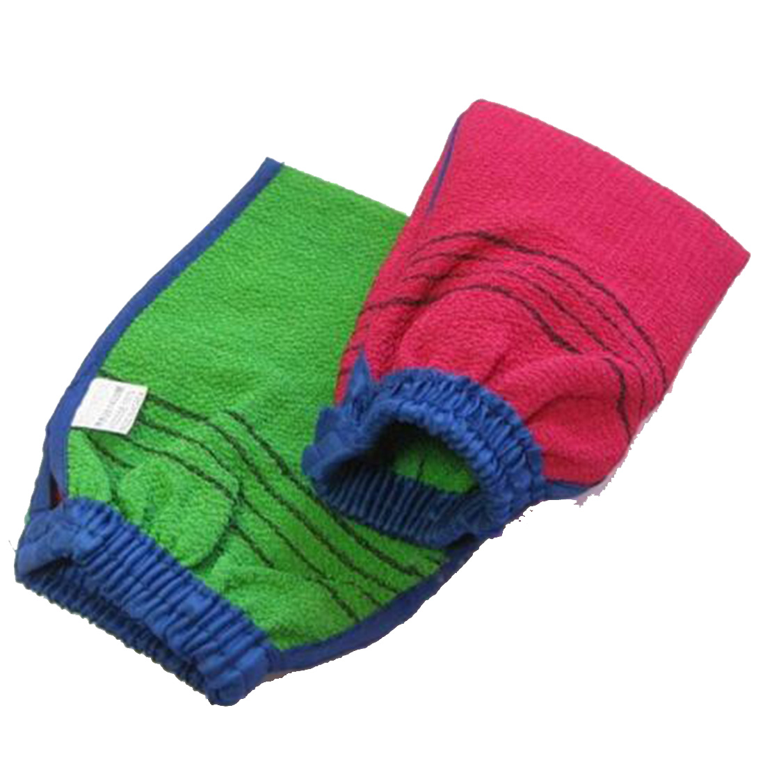 New Arrival 1 PC Random Color Shower Spa Exfoliator Two-sided Bath Glove Body Cleaning Scrub Mitt Rub Dead Skin Removal
