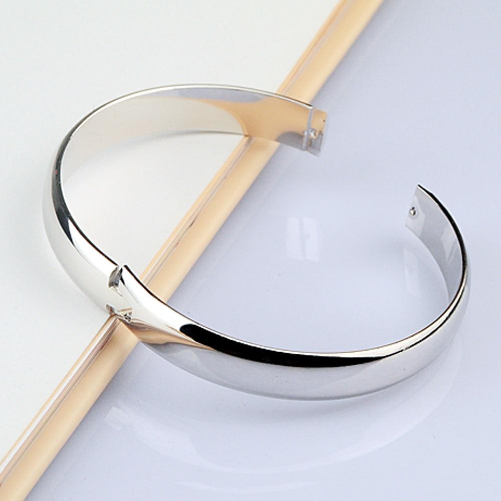 Nuevo 100% 925 Pulsera de plata Mujer Pulsera redonda brillante - Bisutería - foto 2