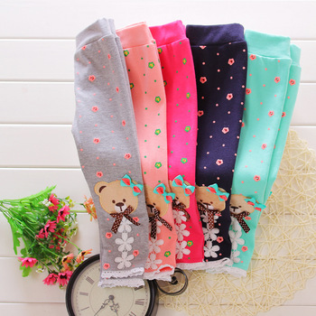 brand children leggings Candy-colored female girls baby leggings wholesale children clothes size 0- 3 years baby cartoon pants Baby Pants