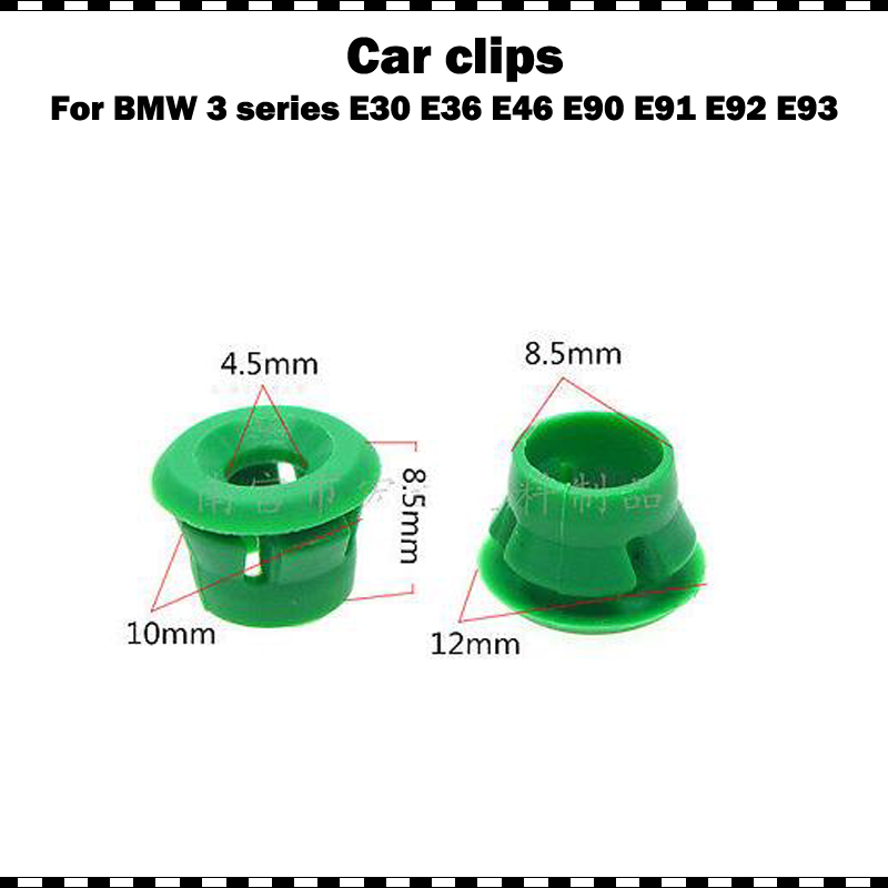 High quality plastic for <font><b>BMW</b></font> E30 E32 E36 E46 E87 E90 Side Sill Skirt Trim Clips 10/<font><b>20</b></font>/50/100 <font><b>pcs</b></font> image