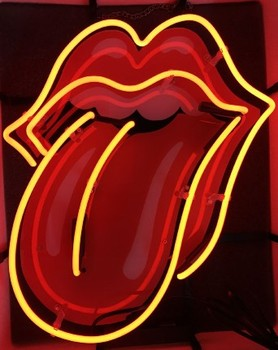 Rolling Stones Glass Neon Light Sign Beer Bar