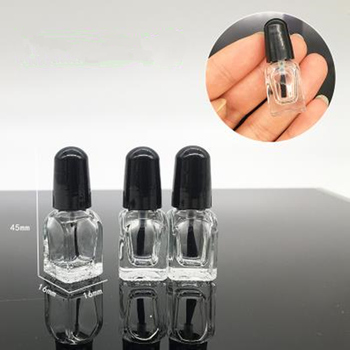 2ml 5ml 8ml empty nail polish glass bottles with brush , small glass bottle for nail polish ,essential oil glass container F014