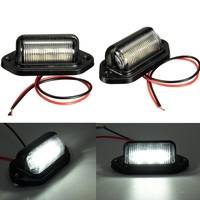 license Plate lights Truck trailer lamp truck Bulbs 6LED for Boat Motorcycle RV Trailer 12V Number Plate Light Car Accessories