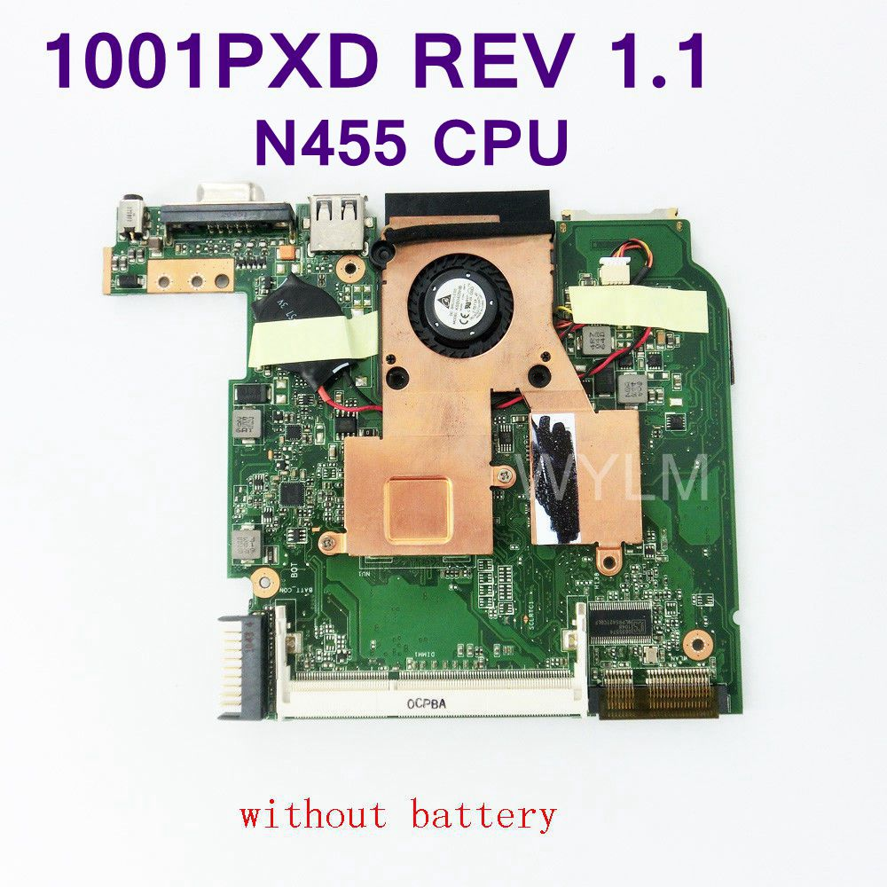 EeePC 1001PXD With Intel Atom N455 CPU Mainboard REV 1.1 For ASUS 1001PXD Laptop Motherboard 100% Tested Working Free Shipping