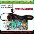 WI-FI контроллер, HD-D10 полноцветная СВЕТОДИОДНАЯ Вывеска Контроллер изменение английский язык, поддержка WI-FI, Сетевой RJ45, U-диск связи