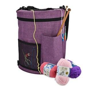 Image 5 - 12 Styles Yarn Storage Knitting Bag Large Yarn Knitting Tote Bag For Crochet Hooks and Knitting Needles Yarn Balls