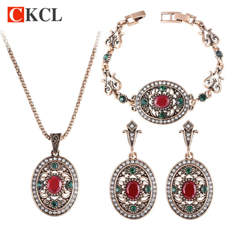 Jewellry-Sets Bracelets Women Earrings Necklaces Turkey Special-Gold Bijuterias And Oval