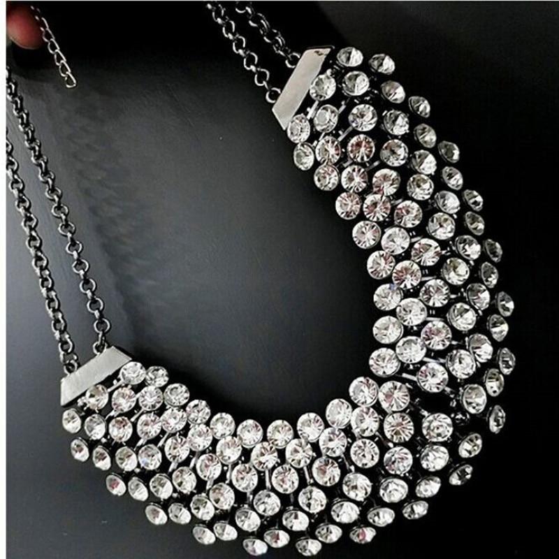 Kymyad Collier Femme Trendy Kristal Statistikası Boyunbağı Asqı - Moda zərgərlik - Fotoqrafiya 2