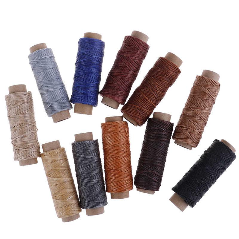 50 m/Roll fil à coudre ciré pour chaussure en cuir couture à la main pour bricolage en cuir fil à coudre main couture artisanat outil