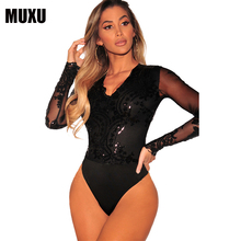 hot deal buy  v neck jumpsuits and rompers for women sequin jumpsuit body suit rompers women jumpsuit shorts bodysuit women combinaison femme