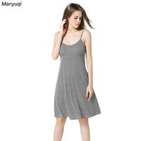 سيدة القطن ثوب نوم ليلة اللباس أنثى أكمام مطبوعة نايتي مثير للنوم ملابس النوم sleepshirt المنزل