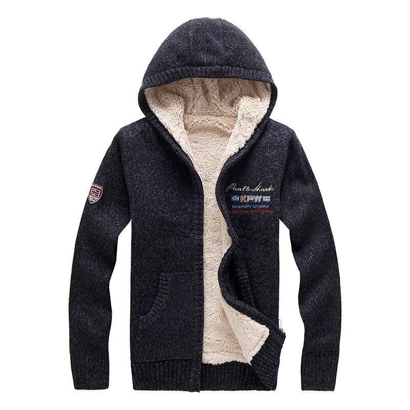 Nouveau hiver hommes chandail Designer mode brocart grande taille polaire épais à capuche chaud chandail manteau hommes Outwear M ~ 2XL BF8807