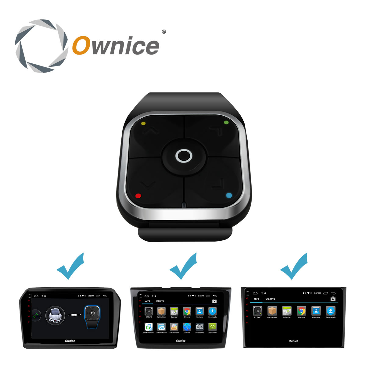 Special Bluetooth Steering wheel control wireless media Button without Battery Only For Ownice K2 Series Android Car DVD