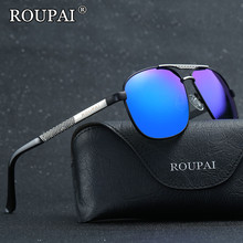 ROUPAI 2017 New Fashion Men Polarized Sunglasses Vintage Metal Frame Shadow Glasses Squared Male Driver Driving Eyeglasses