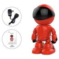 New Giá Rẻ Phong Cách Ảnh Ip Robot Phong Cách Màu Đỏ Cho Nhà 960 P Camera An Ninh Với Điều Khiển Từ Xa Video Giám Sát máy ảnh