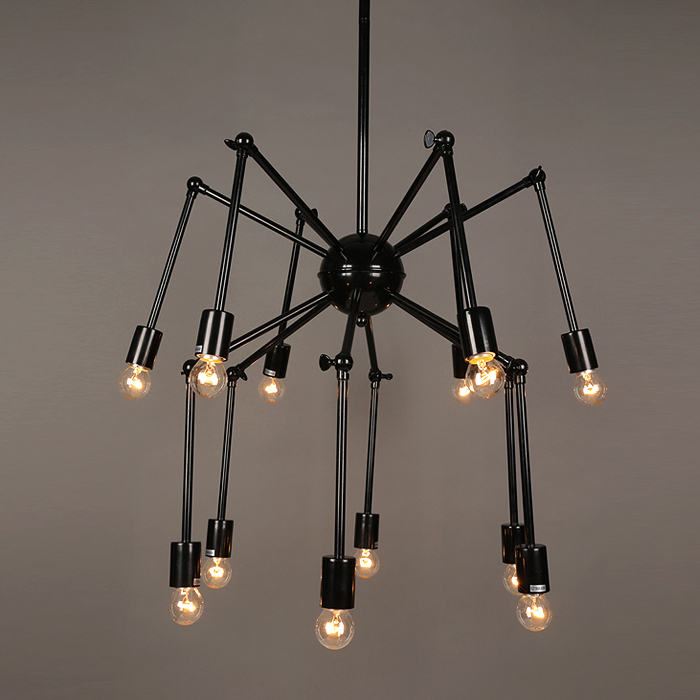 Nordic modern minimalist fashion creative 12 HEAD Pendant lamp  iron spider dining room study bedroom Pendant Lights TA102111 a1 master bedroom living room lamp crystal pendant lights dining room lamp european style dual use fashion pendant lamps