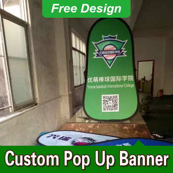 Free Design Free Shipping Vertical Top Banner Frame Pop Up Advertising Signs Pop Up A Frame