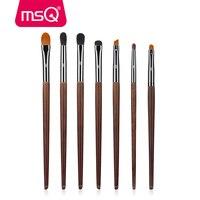 MSQ Eyeshadow Brush Set 7pcs Makeup Brushes For Eye Eyeliner Blend Cosmetics Soft Animal Hair Make