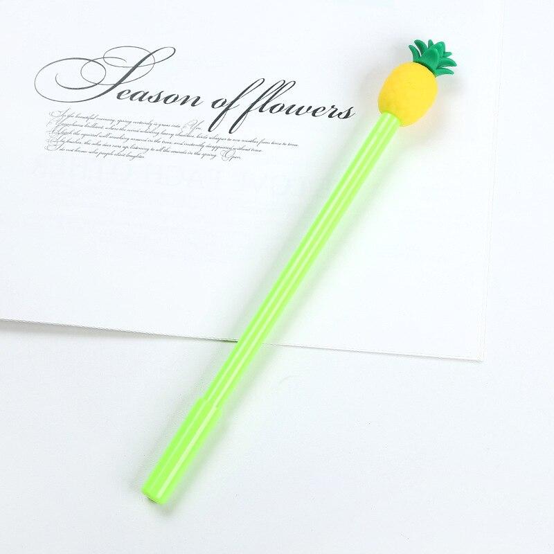 abacaxi gel canetas para estudantes escola 05