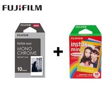 2 packs Fuji Fujifilm Instax Mini Instant Film Monochrome +Rainbow Photo Paper F Mini 8 7s 7 50s 50i 90 25 dw Share SP-1 Cameras