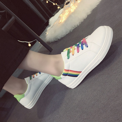 ФОТО 2016 Hot Sale Fashion Style Flat Stan High Shoes Women Platform Shoes Spring/autumn Breathable Casual Shoes Woman Free Shipping