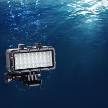 Latest 36 LED Bulbs Flash Light Diving Lamp Waterproof Fill Light For GoPro HERO SJ9000 Xiaoyi Lite 4K Action Camera Accessories(China)