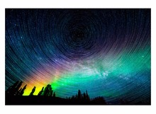 1 Panel Free Shippting northern lights night stars nature photo art Living room home wall decoration canvas poster print Framed