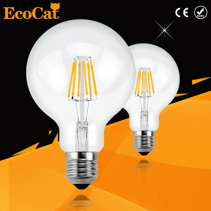 Vintage Edison bulb led E27 E14 lamp Filament Light Vintage LED Bulb Lamp 220V Retro Candle Light 2W 4W 6W 8W G45 G80 G95 G125 стоимость