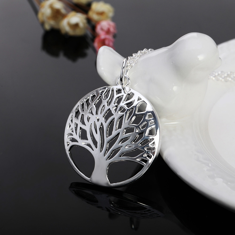 02ee4b313 Hot sale silver for women Tree Of Life pendant necklace jewelry silver  jewelry fashion cute wedding party lover cute gift-in Pendant Necklaces  from Jewelry ...